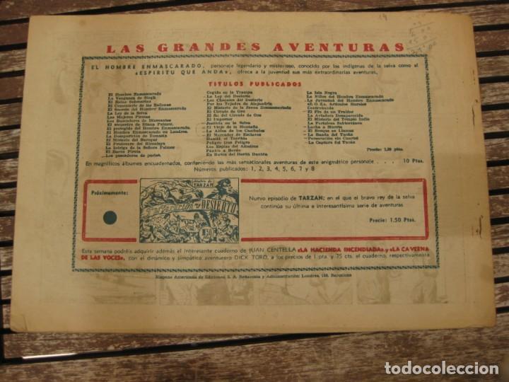 Tebeos: gran lote 67 el hombre enmascarado hispano americana de ediciones originales años 40 - Foto 86 - 164143534