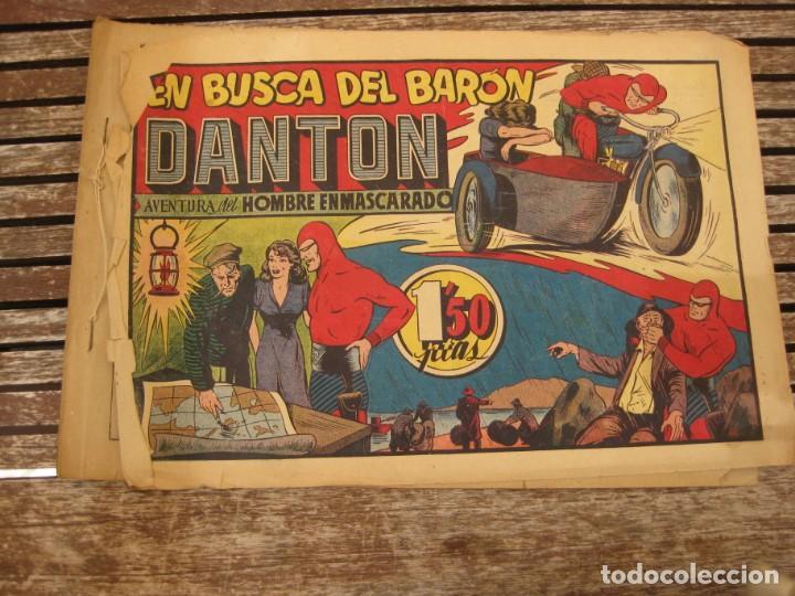 Tebeos: gran lote 67 el hombre enmascarado hispano americana de ediciones originales años 40 - Foto 87 - 164143534