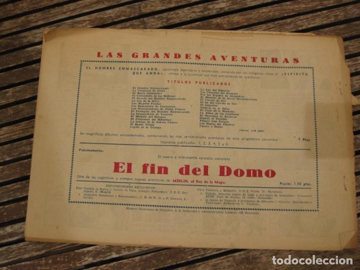 Tebeos: gran lote 67 el hombre enmascarado hispano americana de ediciones originales años 40 - Foto 90 - 164143534