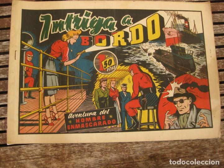 Tebeos: gran lote 67 el hombre enmascarado hispano americana de ediciones originales años 40 - Foto 91 - 164143534
