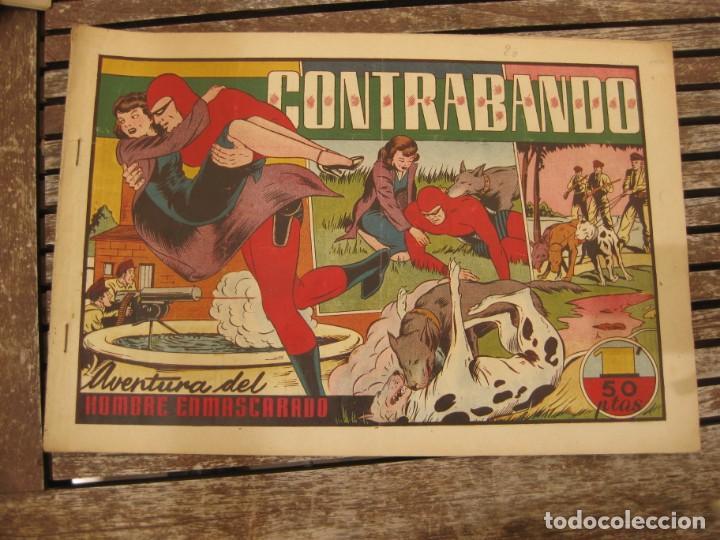 Tebeos: gran lote 67 el hombre enmascarado hispano americana de ediciones originales años 40 - Foto 93 - 164143534