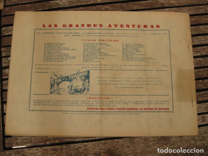 Tebeos: gran lote 67 el hombre enmascarado hispano americana de ediciones originales años 40 - Foto 94 - 164143534