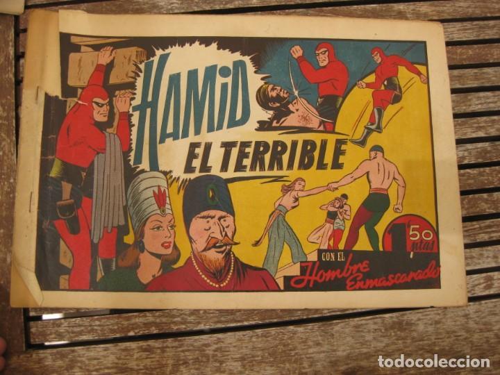 Tebeos: gran lote 67 el hombre enmascarado hispano americana de ediciones originales años 40 - Foto 95 - 164143534