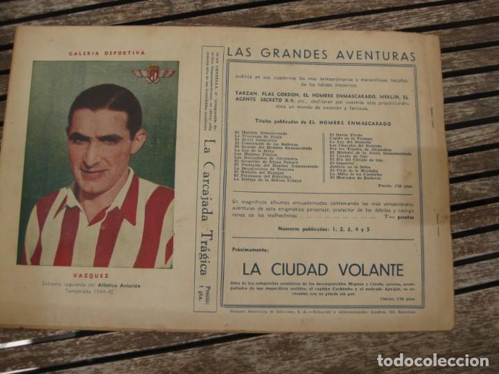 Tebeos: gran lote 67 el hombre enmascarado hispano americana de ediciones originales años 40 - Foto 96 - 164143534