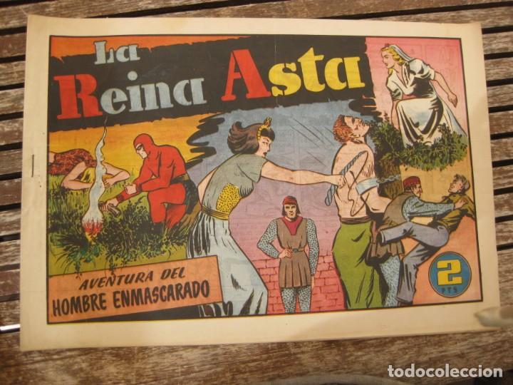 Tebeos: gran lote 67 el hombre enmascarado hispano americana de ediciones originales años 40 - Foto 97 - 164143534