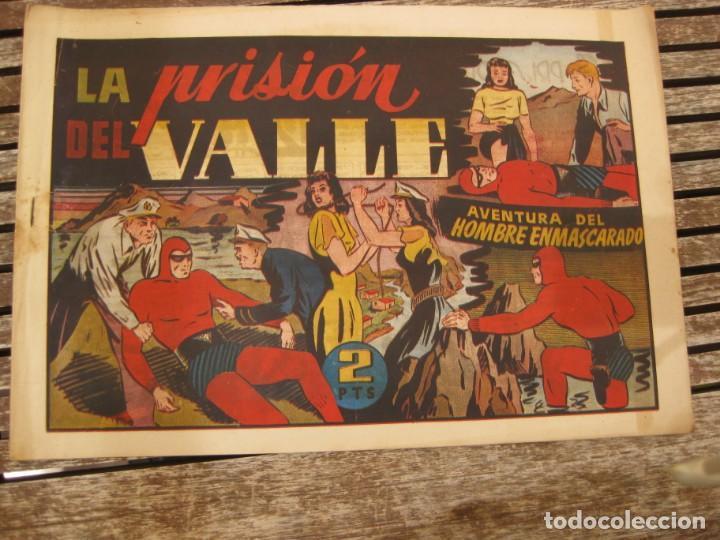 Tebeos: gran lote 67 el hombre enmascarado hispano americana de ediciones originales años 40 - Foto 99 - 164143534