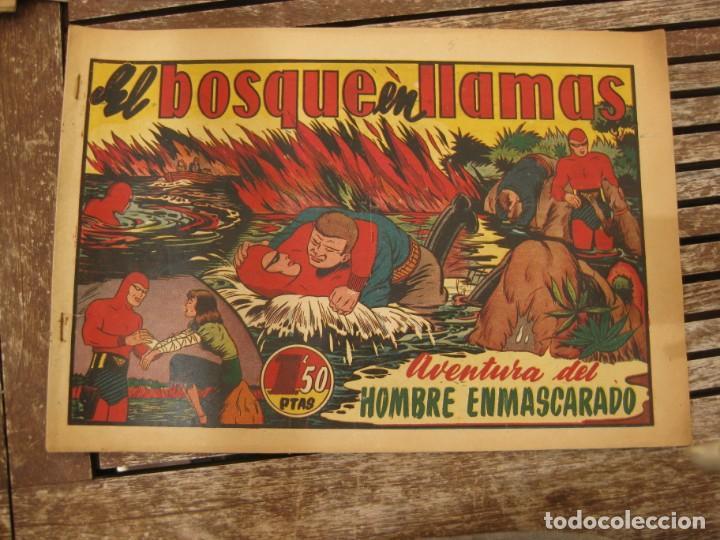 Tebeos: gran lote 67 el hombre enmascarado hispano americana de ediciones originales años 40 - Foto 101 - 164143534