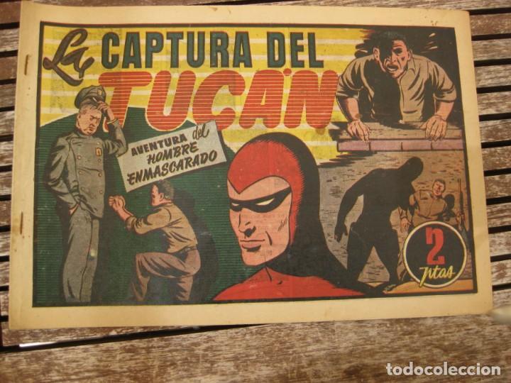 Tebeos: gran lote 67 el hombre enmascarado hispano americana de ediciones originales años 40 - Foto 103 - 164143534