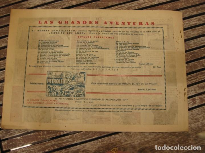Tebeos: gran lote 67 el hombre enmascarado hispano americana de ediciones originales años 40 - Foto 104 - 164143534