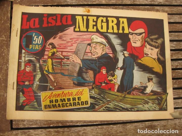 Tebeos: gran lote 67 el hombre enmascarado hispano americana de ediciones originales años 40 - Foto 105 - 164143534