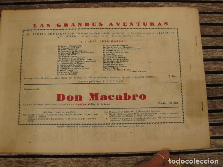 Tebeos: gran lote 67 el hombre enmascarado hispano americana de ediciones originales años 40 - Foto 106 - 164143534