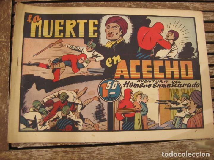 Tebeos: gran lote 67 el hombre enmascarado hispano americana de ediciones originales años 40 - Foto 107 - 164143534