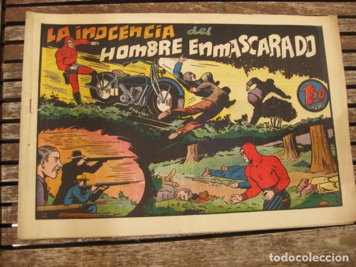 Tebeos: gran lote 67 el hombre enmascarado hispano americana de ediciones originales años 40 - Foto 109 - 164143534