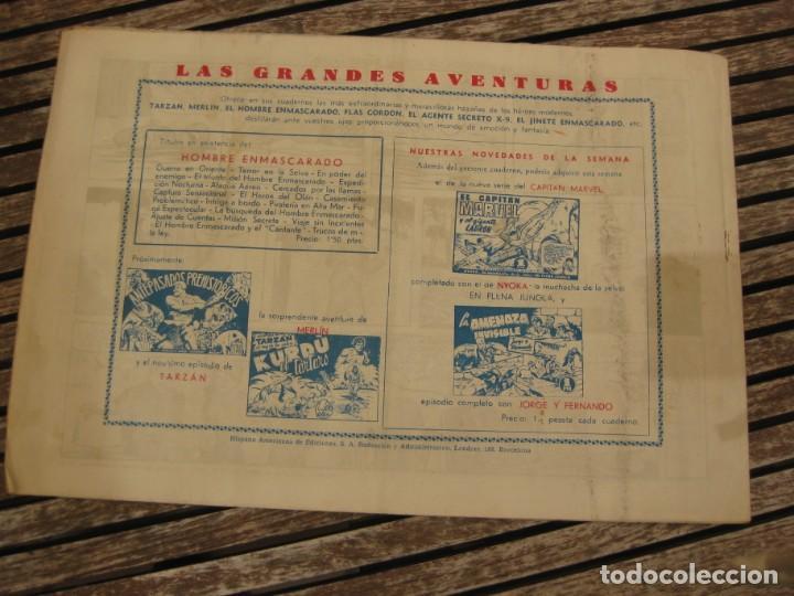 Tebeos: gran lote 67 el hombre enmascarado hispano americana de ediciones originales años 40 - Foto 110 - 164143534
