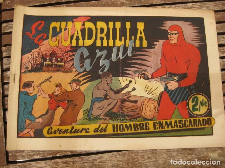 Tebeos: gran lote 67 el hombre enmascarado hispano americana de ediciones originales años 40 - Foto 111 - 164143534