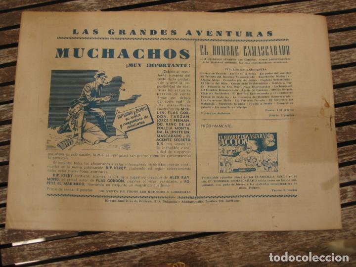 Tebeos: gran lote 67 el hombre enmascarado hispano americana de ediciones originales años 40 - Foto 112 - 164143534