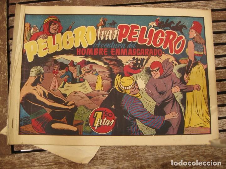 Tebeos: gran lote 67 el hombre enmascarado hispano americana de ediciones originales años 40 - Foto 113 - 164143534