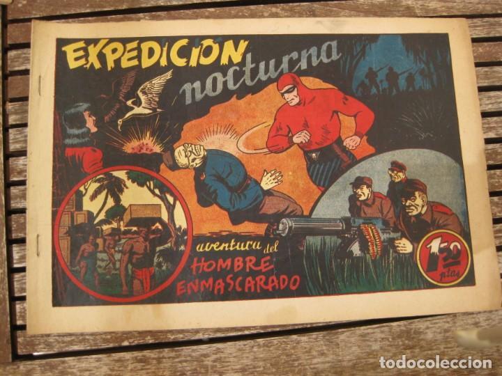 Tebeos: gran lote 67 el hombre enmascarado hispano americana de ediciones originales años 40 - Foto 115 - 164143534
