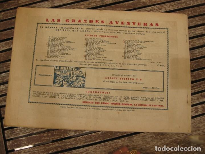 Tebeos: gran lote 67 el hombre enmascarado hispano americana de ediciones originales años 40 - Foto 116 - 164143534