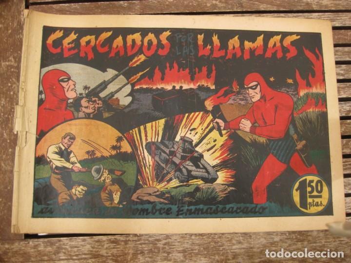 Tebeos: gran lote 67 el hombre enmascarado hispano americana de ediciones originales años 40 - Foto 117 - 164143534