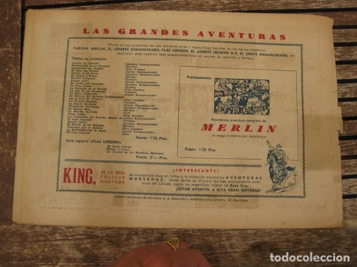 Tebeos: gran lote 67 el hombre enmascarado hispano americana de ediciones originales años 40 - Foto 118 - 164143534