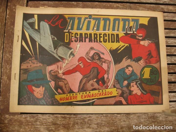 Tebeos: gran lote 67 el hombre enmascarado hispano americana de ediciones originales años 40 - Foto 119 - 164143534