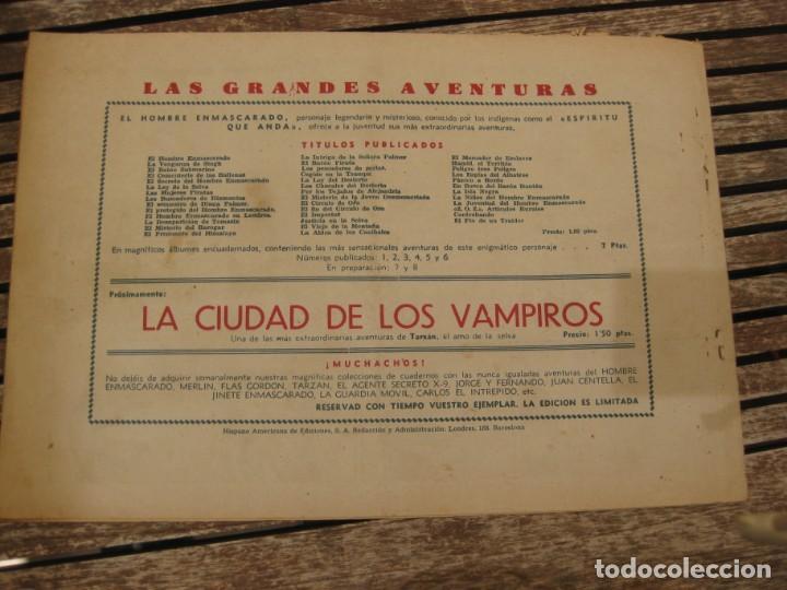 Tebeos: gran lote 67 el hombre enmascarado hispano americana de ediciones originales años 40 - Foto 120 - 164143534