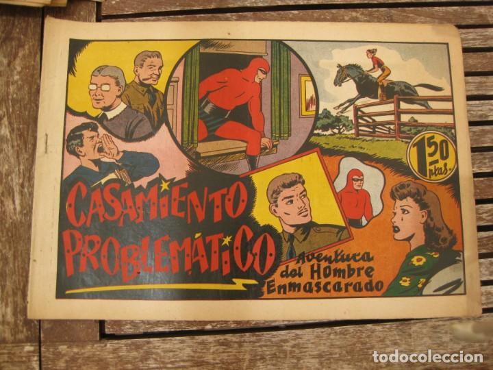 Tebeos: gran lote 67 el hombre enmascarado hispano americana de ediciones originales años 40 - Foto 121 - 164143534