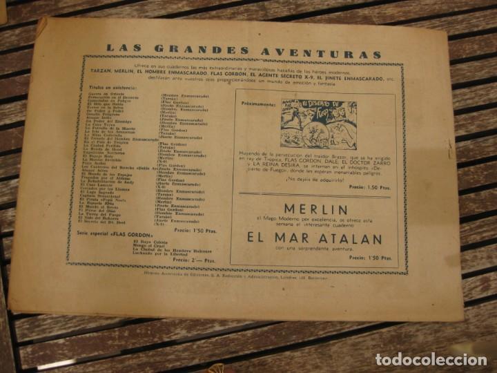 Tebeos: gran lote 67 el hombre enmascarado hispano americana de ediciones originales años 40 - Foto 122 - 164143534