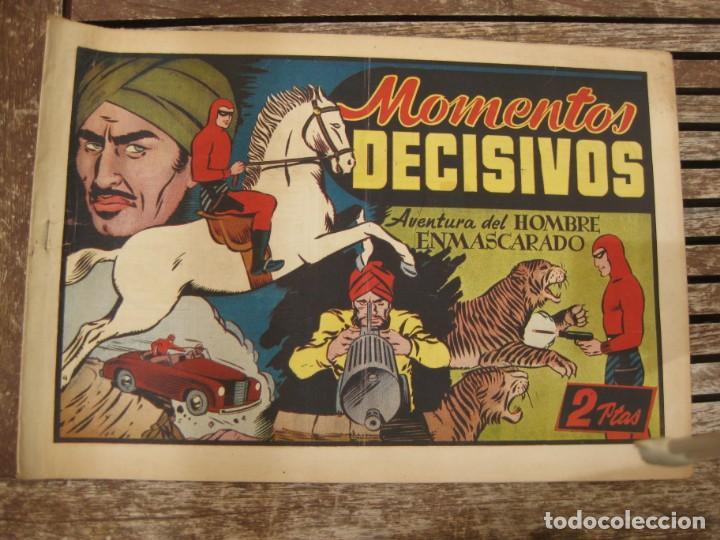 Tebeos: gran lote 67 el hombre enmascarado hispano americana de ediciones originales años 40 - Foto 125 - 164143534