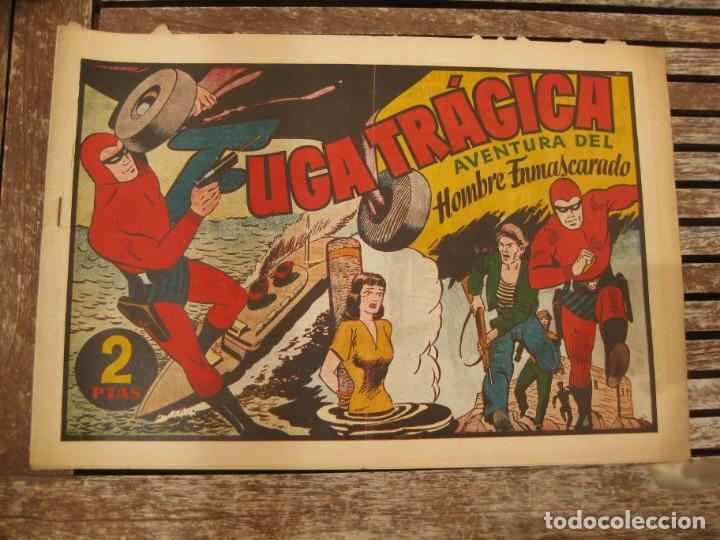 Tebeos: gran lote 67 el hombre enmascarado hispano americana de ediciones originales años 40 - Foto 127 - 164143534