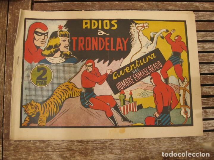 Tebeos: gran lote 67 el hombre enmascarado hispano americana de ediciones originales años 40 - Foto 129 - 164143534