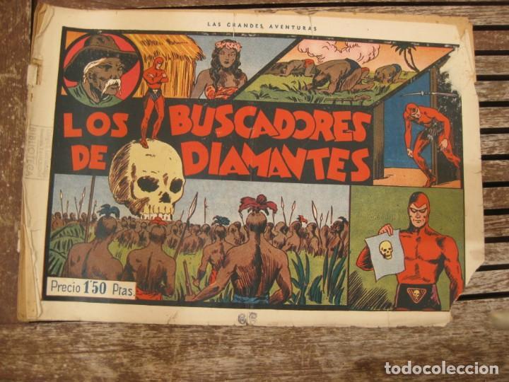 Tebeos: gran lote 67 el hombre enmascarado hispano americana de ediciones originales años 40 - Foto 131 - 164143534