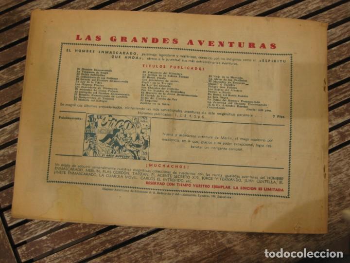 Tebeos: gran lote 67 el hombre enmascarado hispano americana de ediciones originales años 40 - Foto 140 - 164143534