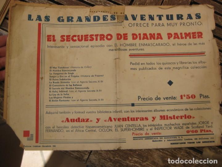 Tebeos: gran lote 67 el hombre enmascarado hispano americana de ediciones originales años 40 - Foto 141 - 164143534