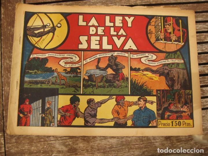 Tebeos: gran lote 67 el hombre enmascarado hispano americana de ediciones originales años 40 - Foto 144 - 164143534