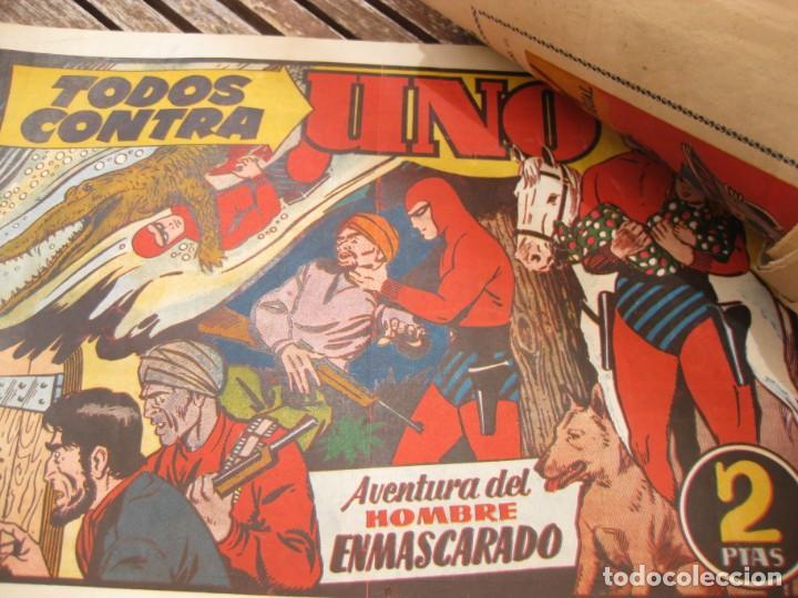 Tebeos: gran lote 67 el hombre enmascarado hispano americana de ediciones originales años 40 - Foto 151 - 164143534