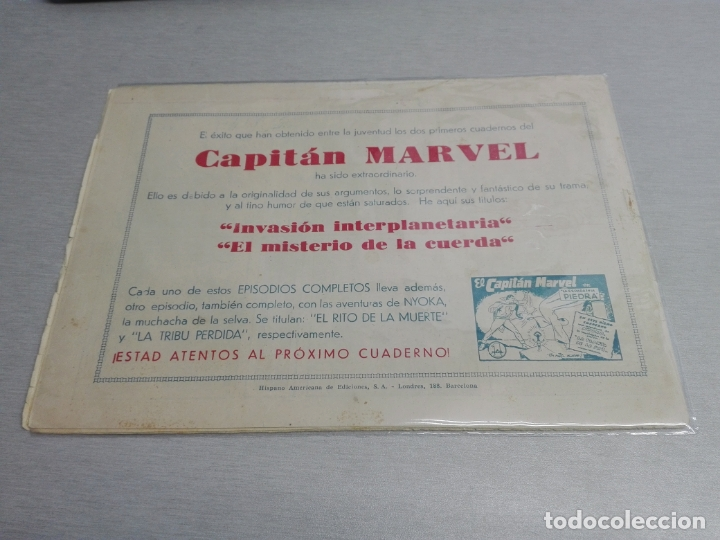 Tebeos: EL CAPITÁN MARVEL / LOTE CON 24 NÚMEROS / HISPANO AMERICANA ORIGINAL 1947 - Foto 7 - 164223218