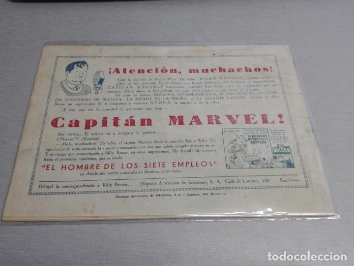 Tebeos: EL CAPITÁN MARVEL / LOTE CON 24 NÚMEROS / HISPANO AMERICANA ORIGINAL 1947 - Foto 13 - 164223218