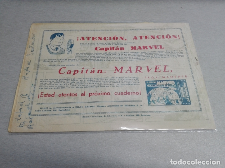 Tebeos: EL CAPITÁN MARVEL / LOTE CON 24 NÚMEROS / HISPANO AMERICANA ORIGINAL 1947 - Foto 19 - 164223218