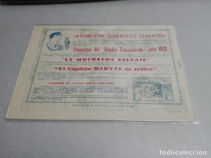 Tebeos: EL CAPITÁN MARVEL / LOTE CON 24 NÚMEROS / HISPANO AMERICANA ORIGINAL 1947 - Foto 23 - 164223218