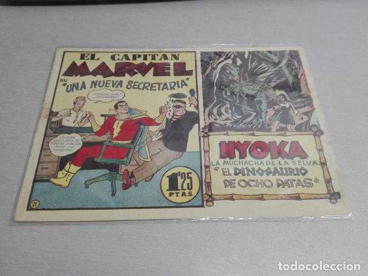 Tebeos: EL CAPITÁN MARVEL / LOTE CON 24 NÚMEROS / HISPANO AMERICANA ORIGINAL 1947 - Foto 32 - 164223218
