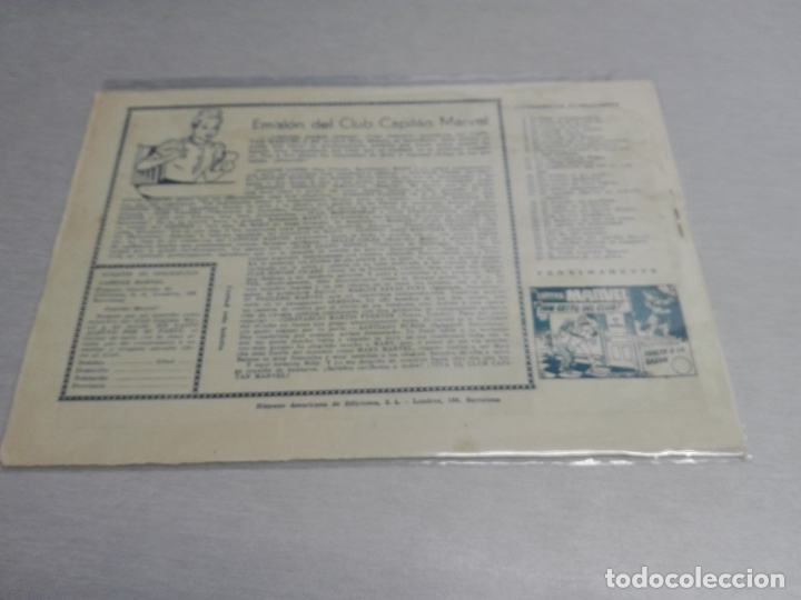 Tebeos: EL CAPITÁN MARVEL / LOTE CON 24 NÚMEROS / HISPANO AMERICANA ORIGINAL 1947 - Foto 52 - 164223218