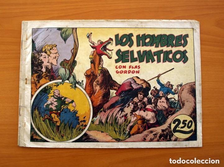 FLAS GORDON (G.A.E.) - Nº 7 - LOS HOMBRES SELVÁTICOS - HISPANO AMERICANA 1942 - TAMAÑO 25X35 (Tebeos y Comics - Hispano Americana - Flash Gordon)