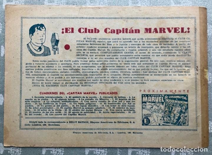 Tebeos: CAPITAN MARVEL NUMERO 26 ORIGINAL. LOS APUROS DEL CAPITAN MARVEL. HISPANO AMERICANA 1958. - Foto 8 - 164938234