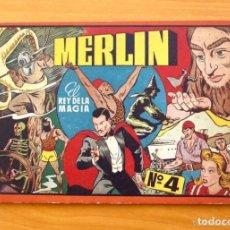 Tebeos: MERLIN EL REY DE LA MAGIA, ÁLBUM Nº 4 (ÚLTIMO) -EDITORIAL HISPANO AMERICANA 1944. Lote 164962318