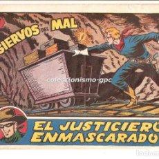Tebeos: EL JUSTICIERO ENMASCARADO Nº 17 TEBEO ORIGINAL 1955 SIERVOS DEL MAL HISPANO AMERICANA DE EDICIONES . Lote 165033394