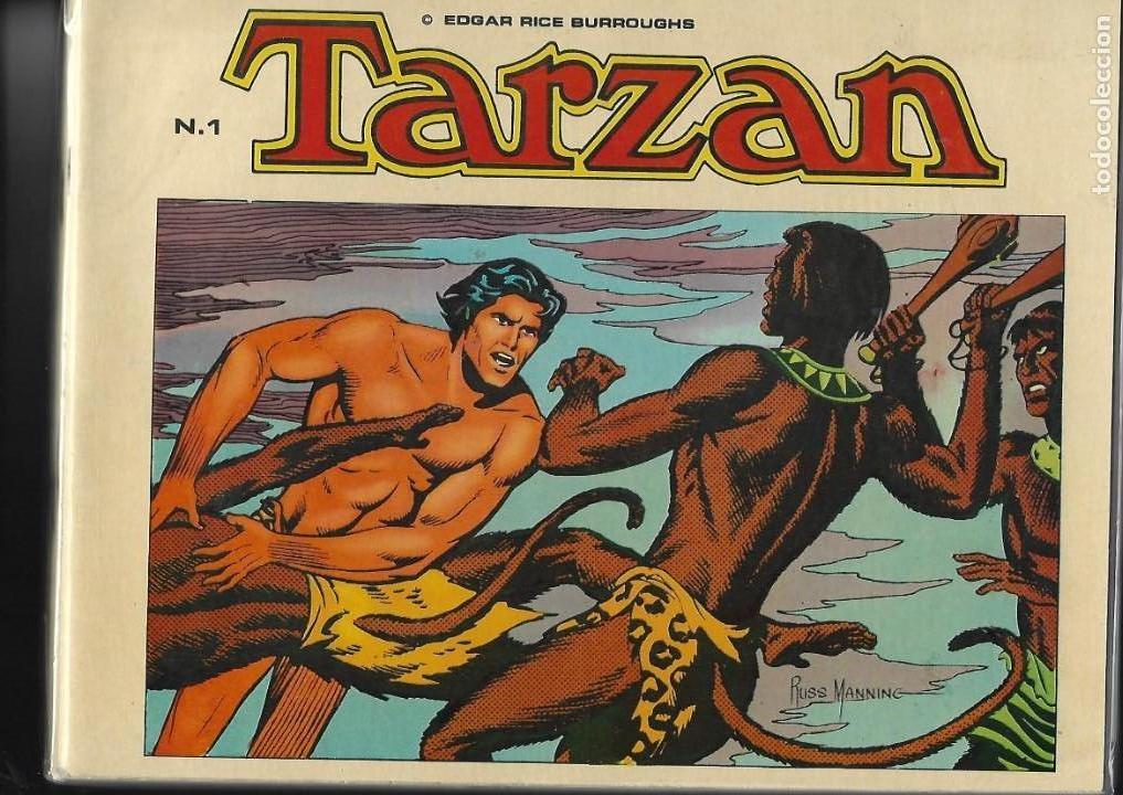 TARZÁN, COLECCIÓN COMPLETA SON 10 TEBEOS EDICIONES B.O. DIBUJOS DE RUSS MANNING, (Tebeos y Comics - Hispano Americana - Tarzán)