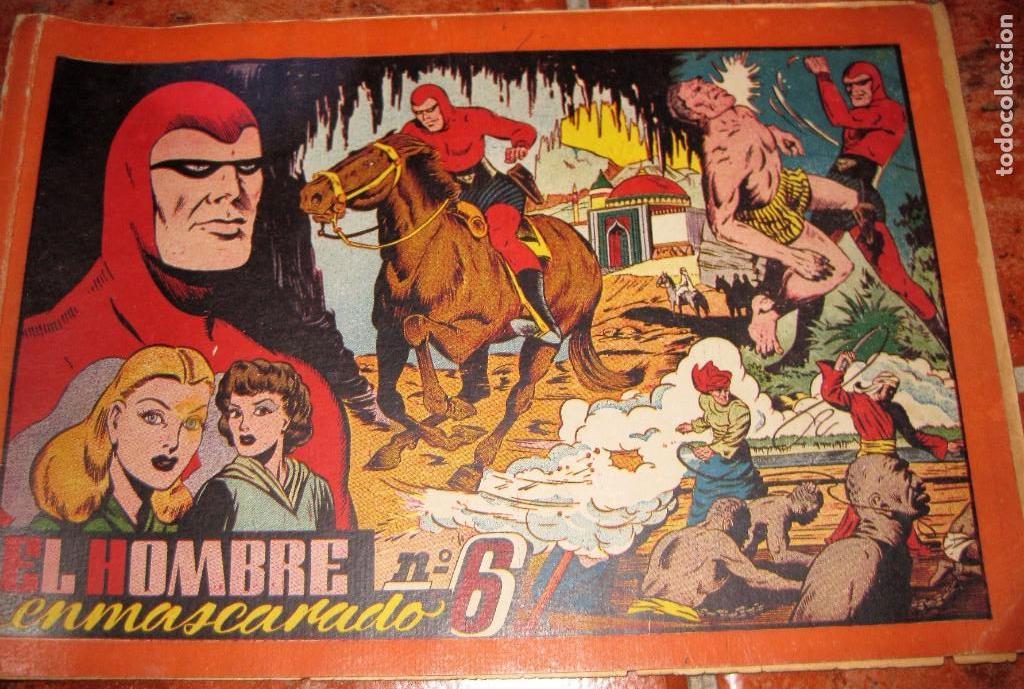 EL HOMBRE ENMASCARADO Nº 6 . HISPANOAMERICANA DE EDICIONES TAPAS DURAS ORIGINAL (Tebeos y Comics - Hispano Americana - Hombre Enmascarado)