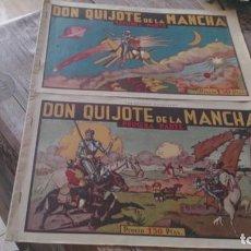 BDs: DON QUIJOTE DE LA MANCHA PRIMERA Y SEGUNDA PARTE, DE HISPANO AMERICANA, ORIGINALES. Lote 168328948